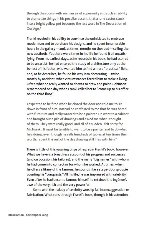 Paul T. Frankl | Autobiography