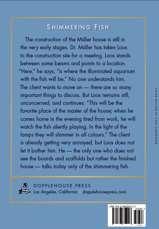 Adolf Loos - Back Cover