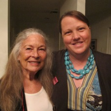 Paulette Frankl with Trudi Sandmeier from the USC Heritage Conservation Program.