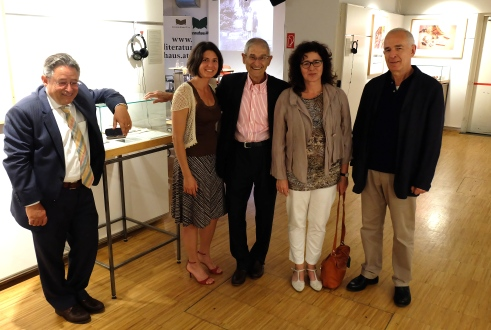 Ronny Scherr, Carrie Paterson, Charles Paterson, Marie-Claire Messinger and Peter Sichrovsky. Photo Philipp Heinz.