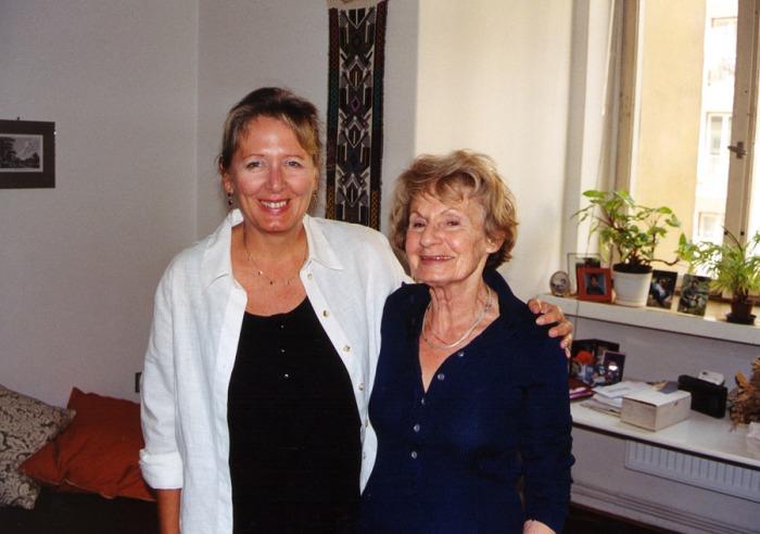 Portrait of Heda Margolius Kovály and and Helena Třeštíková, authors of Hitler, Stalin and I